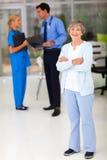 Hôpital supérieur de femme Photographie stock libre de droits