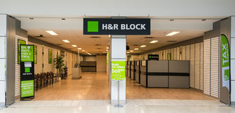 H&R Block Office in a Mall Royalty Free Stock Photography