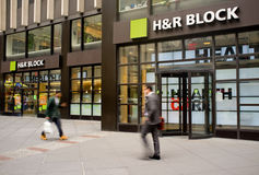 H&R Block Storefront Royalty Free Stock Images