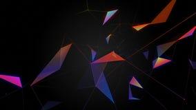 H?rlig abstrakt bakgrund F?rgrik plexus Begreppet av en ferie lager videofilmer