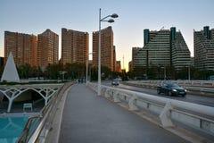 H?rlig cityscape- och gatasikt arkivbild
