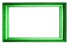 H?rlig gr?n ram som isoleras p? vit bakgrund royaltyfri foto