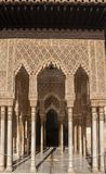 H?rlig morisk f?stning av Alhambraen i Granada, Andalusia arkivbild
