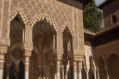 H?rlig morisk f?stning av Alhambraen i Granada, Andalusia arkivfoto