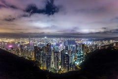 H?rlig sikt av Hong Kong royaltyfria foton