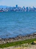 H?rlig sikt av Vancouver, British Columbia, Kanada arkivbild