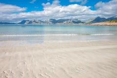 Härlig sikt till den Eggum stranden i Norge, Lofoten öar, Norge fotografering för bildbyråer