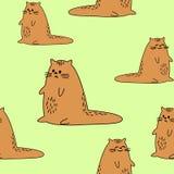 H?rliga id?rika textiler Bild av original- kattungar Tapet och bakgrund f?r h?rliga barns rum vektor vektor illustrationer