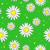 H?rliga id?rika textiler Blomma för vit tusensköna på en gul bakgrund Tapet för barns rum, gåvainpackning vektor stock illustrationer