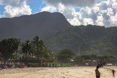 H?rliga landskap kan finnas i Maresias, Brasilien arkivfoto