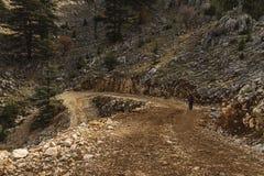 H?rligt landskap l?ngs den Lycian v?gen, turismtur Turkiet royaltyfri foto