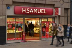 H.Samuel Oxford Street store Royalty Free Stock Photo