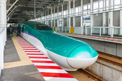 H5 Series bullet (High-speed or Shinkansen) train. Royalty Free Stock Images