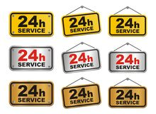 24h service sign Royalty Free Stock Photo