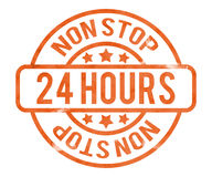 24h Stamp Royalty Free Stock Photo