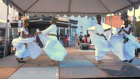 H Street Festival Caribbean Dancers in DC stock footage