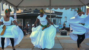 H Street Festival Caribbean Dancers stock video footage