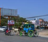 H?stvagnar i Pyin Oo Lwin, Myanmar arkivfoton