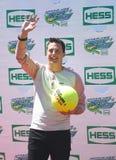 Hôte Jeff Sutphen d'exposition l'acteur, le producteur, et du jeu américains de Nickelodeon s'occupe d'Arthur Ashe Kids Day 2013 Photographie stock libre de droits