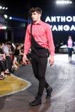 Hôte Porter Fashion Show : Anthony Avangard, Zagreb, Croatie Photo libre de droits