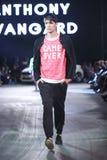 Hôte Porter Fashion Show : Anthony Avangard, Zagreb, Croatie Image stock