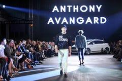 Hôte Porter Fashion Show : Anthony Avangard, Zagreb, Croatie Image libre de droits