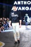 Hôte Porter Fashion Show : Anthony Avangard, Zagreb, Croatie Photographie stock libre de droits