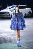 Hôte Porter Fashion Show : Marina Jerant, Zagreb, Croatie Images libres de droits