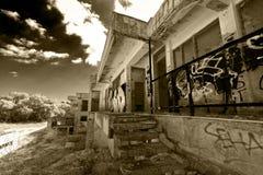 Hôtel abandonné Image stock