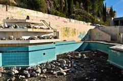 Hôtel abandonné et ruiné Photo libre de droits