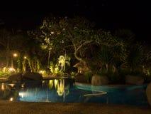 hôtel au coucher du soleil, Bali, Indonésie Photos libres de droits