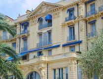 Hôtel Bristol sur le Lit de rue Beaulieu-sur-Mer de Colonelli Photos stock