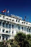 Hôtel Cannes splendide Photographie stock libre de droits
