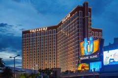 Hôtel d'île de trésor à Las Vegas Photo stock