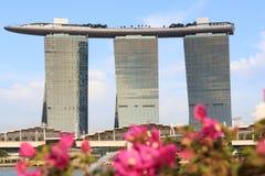 Hôtel d'orchidées et de Marina Bay Sands, Singapour Photo stock