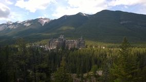 Hôtel dans Banff, Alberta, Canada Photos stock
