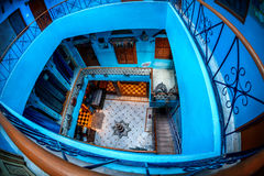 Hôtel dans la ville de bleu de Jodhpur Image libre de droits