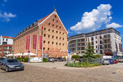 Hôtel Danzig dans la vieille ville de Danzig, Pologne Images libres de droits