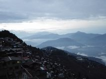 Hôtel Darjeeling de vue de ville images libres de droits