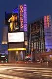 Hôtel de Ballys la nuit à Las Vegas, nanovolt le 13 mars 2013 Images libres de droits