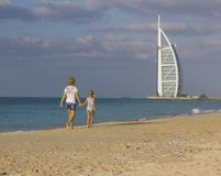 Hôtel de Burj Al Arab le 17 novembre 2012 à Dubaï Images libres de droits