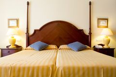 hôtel de chambre à coucher Image stock