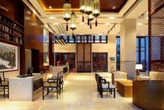 Hôtel de cour de Sanya, mer de la Chine quatre saisons Images stock