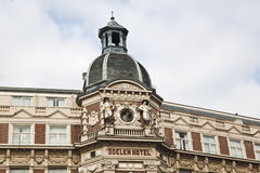 Hôtel de Doelen de bâtiment historique, Amsterdam Photo stock