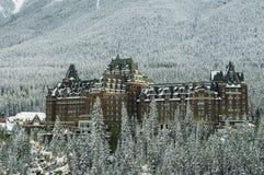 Hôtel de Fairmont, parc national de Banff Photo libre de droits