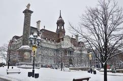 Hôtel de la ville de Montréal Images libres de droits