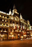 Hôtel de luxe de Boscolo à Budapest la nuit (Hongrie) Photos stock