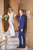 Hôtel de marié de jeune mariée d'étapes Image stock