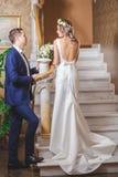 Hôtel de marié de jeune mariée d'étapes Photo libre de droits