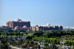 Hôtel de palais d'émirats, Abu Dhabi Corniche photos libres de droits